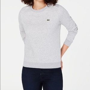 LACOSTE Grey Crewneck Sweater 🐊
